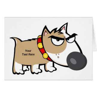 Mad Brown Dog (customizable) Card