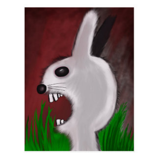 Mad Bunny Postcard