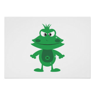 Mad Cartoon Frog Posters