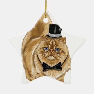 mad cat, coffee cup, cel phone case ceramic ornament