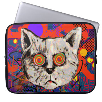 mad cat meow computer sleeve