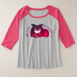 Mad Cat Rap by Aleta Plus Size Raglan T-Shirt