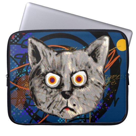 mad cat ~ strange meow laptop sleeve