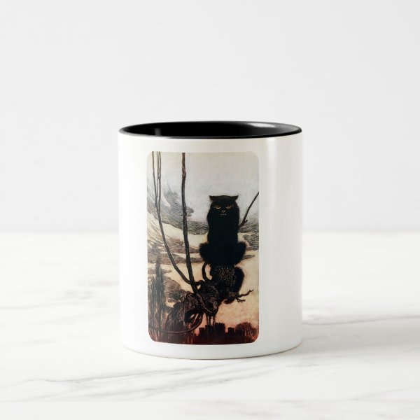 Mad Cat Two-Tone Coffee Mug