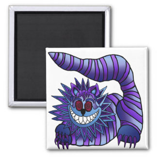 Mad Cheshire Cat 2 Inch Square Magnet