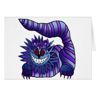 Mad Cheshire Cat Card