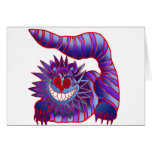 Mad Cheshire Cat Fire Greeting Card
