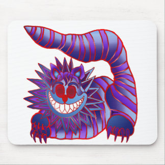 Mad Cheshire Cat Fire Mouse Pad