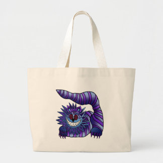 Mad Cheshire Cat Large Tote Bag