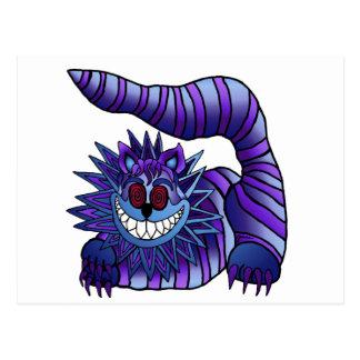 Mad Cheshire Cat Postcard