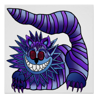 Mad Cheshire Cat Poster