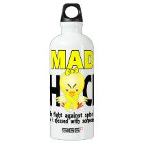 Mad Chick 1 Spina Bifida Aluminum Water Bottle