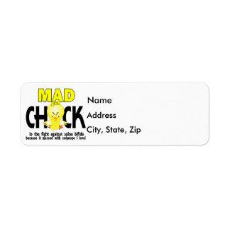 Mad Chick 1 Spina Bifida Label
