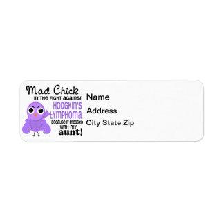 Mad Chick 2 Aunt Hodgkin's Lymphoma / Disease Label
