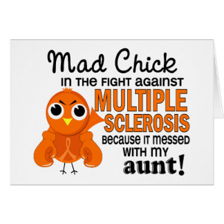 Mad Chick 2 Aunt Multiple Sclerosis MS Greeting Cards