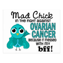 Mad Chick 2 BBF Ovarian Cancer Postcard