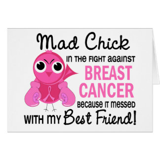 Mad Chick 2 Best Friend Breast Cancer Card