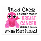 Mad Chick 2 Best Friend Breast Cancer Postcard