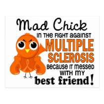 Mad Chick 2 Best Friend Multiple Sclerosis MS Postcard