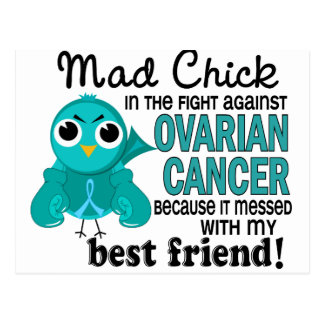 Mad Chick 2 Best Friend Ovarian Cancer Postcard