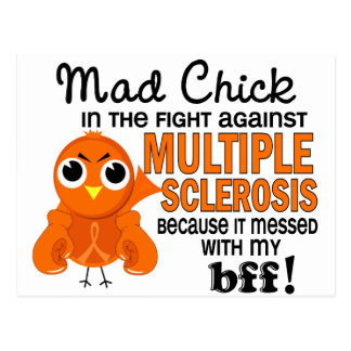 Mad Chick 2 BFF Multiple Sclerosis MS Postcard