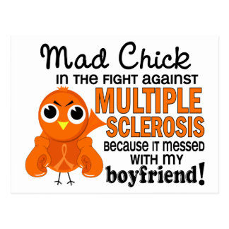 Mad Chick 2 Boyfriend Multiple Sclerosis MS Postcard