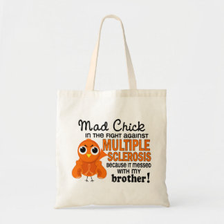 Mad Chick 2 Brother Multiple Sclerosis MS Budget Tote Bag