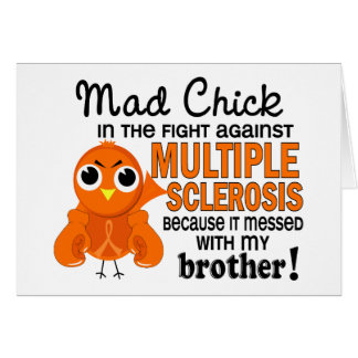 Mad Chick 2 Brother Multiple Sclerosis MS Greeting Card