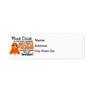 Mad Chick 2 Brother Multiple Sclerosis MS Label