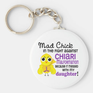 Mad Chick 2 Chiari Malformation Daughter Keychain