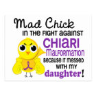Mad Chick 2 Chiari Malformation Daughter Postcard