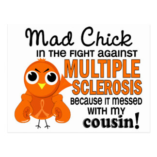 Mad Chick 2 Cousin Multiple Sclerosis MS Postcard