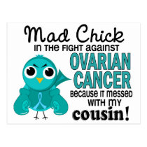 Mad Chick 2 Cousin Ovarian Cancer Postcard