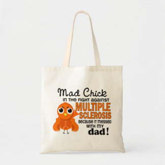 Mad Chick 2 Dad Multiple Sclerosis MS Budget Tote Bag