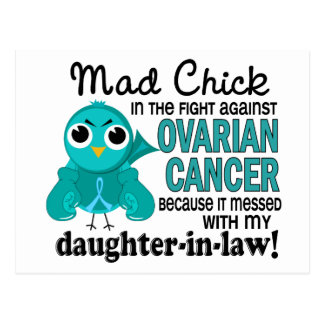 Mad Chick 2 Daughter-In-Law Ovarian Cancer Postcard