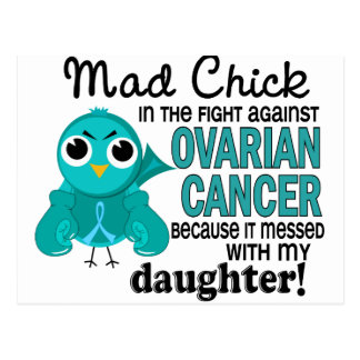 Mad Chick 2 Daughter Ovarian Cancer Postcard