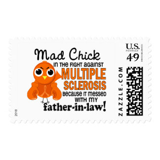 Mad Chick 2 Father-In-Law Multiple Sclerosis MS Postage Stamps