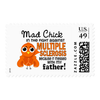 Mad Chick 2 Father Multiple Sclerosis MS Stamps