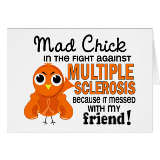 Mad Chick 2 Friend Multiple Sclerosis MS Greeting Cards