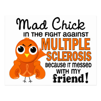 Mad Chick 2 Friend Multiple Sclerosis MS Post Card