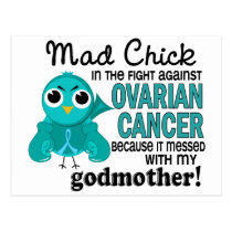 Mad Chick 2 Godmother Ovarian Cancer Postcard