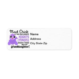 Mad Chick 2 Granddaughter Hodgkin's Lymphoma Label