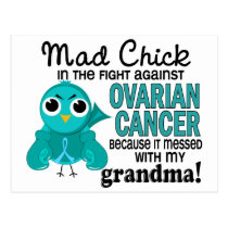 Mad Chick 2 Grandma Ovarian Cancer Postcard