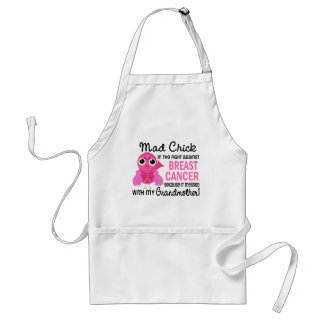 Mad Chick 2 Grandmother Breast Cancer Aprons