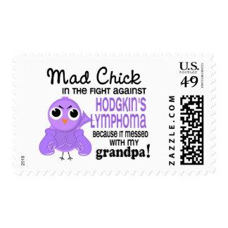 Mad Chick 2 Grandpa Hodgkin's Lymphoma Disease Stamp