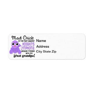 Mad Chick 2 Great Grandpa Hodgkin's Lymphoma Label
