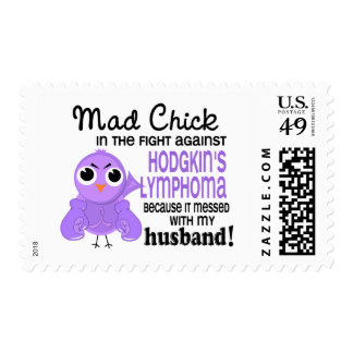 Mad Chick 2 Husband Hodgkin's Lymphoma / Disease Stamps