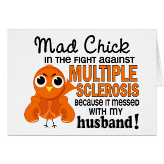 Mad Chick 2 Husband Multiple Sclerosis MS Greeting Cards