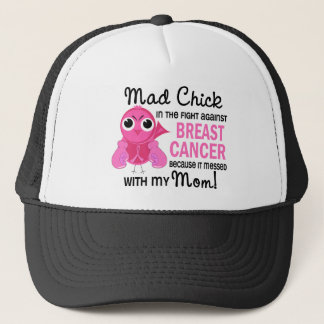 Mad Chick 2 Mom Breast Cancer Trucker Hat