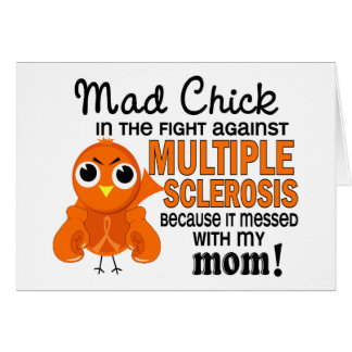 Mad Chick 2 Mom Multiple Sclerosis MS Greeting Cards